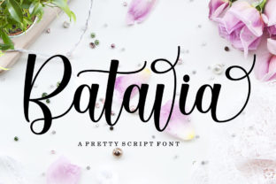 Print on Demand: Batavia Script Manuscrita Fuente Por LetterFreshStudio