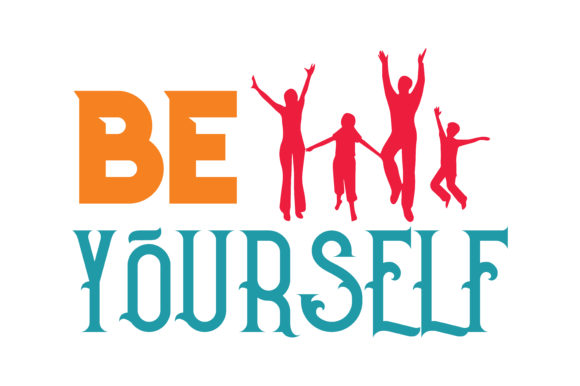 Print on Demand: Be Yourself Quote SVG Cut Graphic Crafts By TheLucky