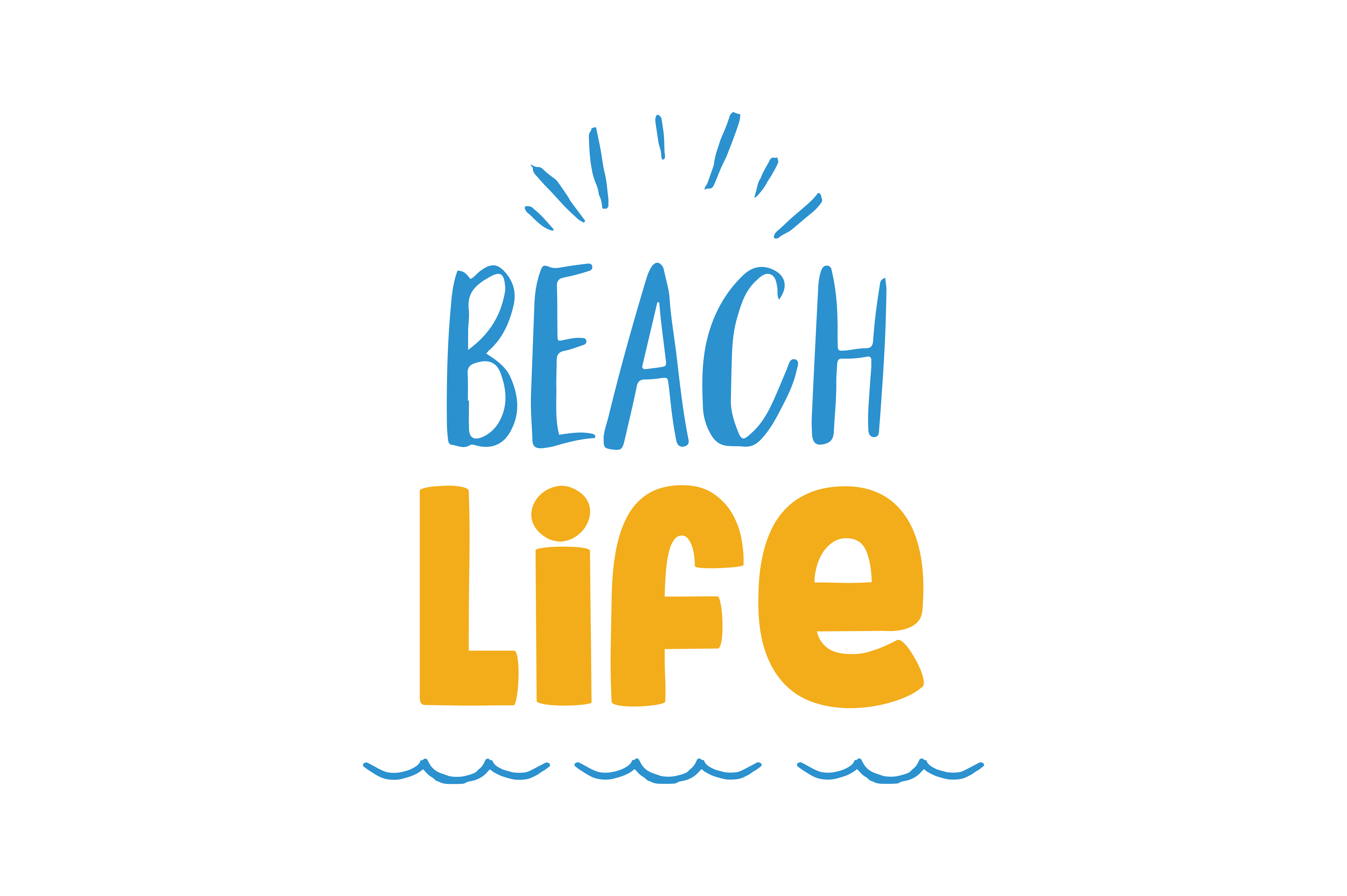 Download Free Beach Life Quote Svg Cut Graphic By Thelucky Creative Fabrica for Cricut Explore, Silhouette and other cutting machines.