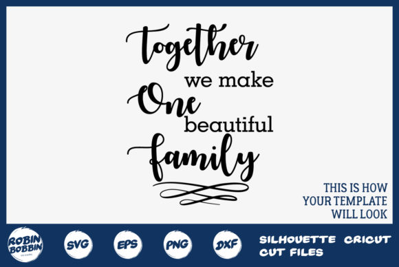 Download Free Beautiful Family Personalized Family Sign Graphic By for Cricut Explore, Silhouette and other cutting machines.
