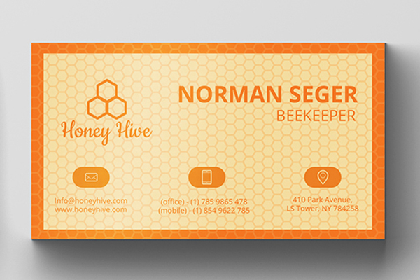 Download Free Bee Keeper Business Card Graphic By Creative Market Creative for Cricut Explore, Silhouette and other cutting machines.