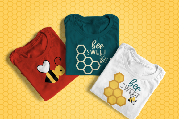 Bee Sweet Honeycomb SVG Graphic Crafts By DesignedByGeeks