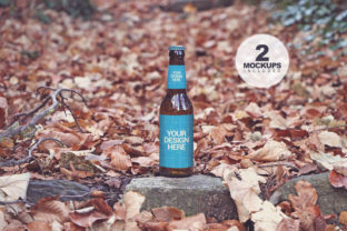 Print on Demand: Beer in the Forest Duo Graphic Product Mockups By SmartDesigns