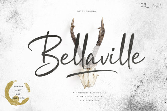 Print on Demand: Bellavile Script & Handwritten Font By Andrie Nugrie
