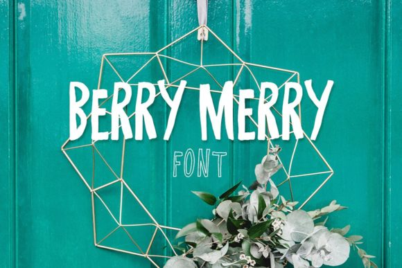 Print on Demand: Berry Merry Display Font By Creativeqube Design