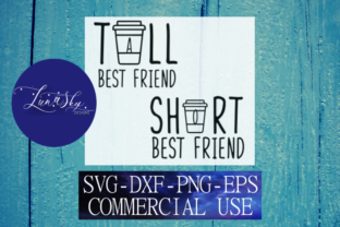 Download Free Best Friends Tall Best Friend Short Best Friend Graphic By for Cricut Explore, Silhouette and other cutting machines.