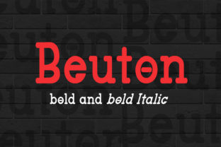 Beuton Bold Font By bbakey