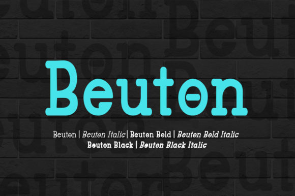 Print on Demand: Beuton Family Sans Serif Font By bbakey