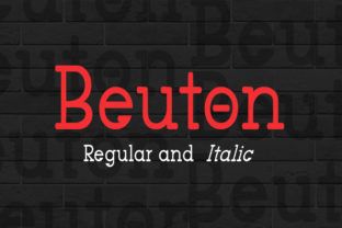 Beuton Font By bbakey