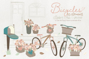 Bicycles Clipart Graphic By Michelle Alzola