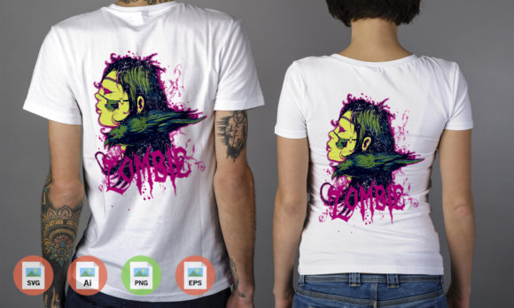 Bird and Zombie Graphic Illustrations By Skull and Rose - Image 2