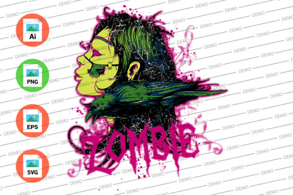 Bird and Zombie Graphic Illustrations By Skull and Rose - Image 3