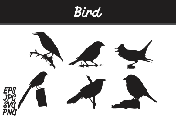 Download Free Bird Silhouette Set Svg Vector Image Bundle Graphic By Arief for Cricut Explore, Silhouette and other cutting machines.
