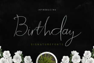 Birthday Script Script & Handwritten Font By Stripes Studio