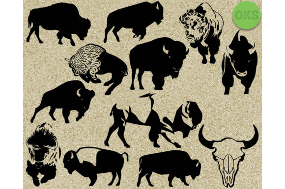 Download Free Bison Graphic By Crafteroks Creative Fabrica for Cricut Explore, Silhouette and other cutting machines.