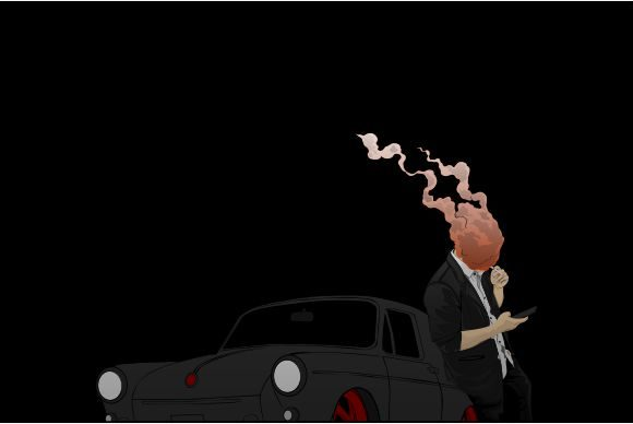 Black Car Graphic Illustrations By PerfectMondayProject