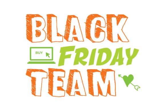 Print on Demand: Black Friday Team Quote SVG Cut Graphic Crafts By TheLucky