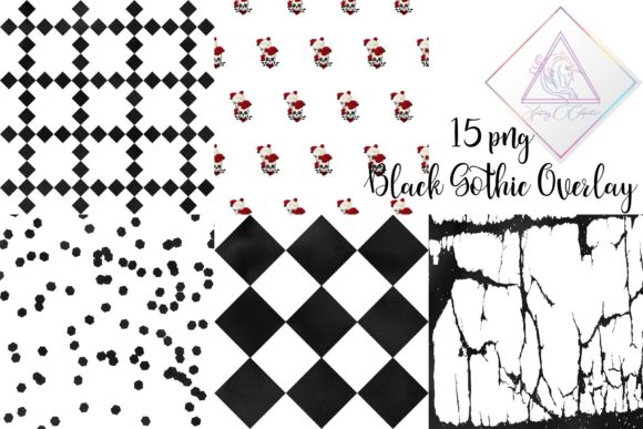 Print on Demand: Black Gothic Overlay Clipart Graphic Illustrations By fantasycliparts