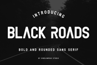 Black Roads Sans Serif Font By Sibelumpagi Studio