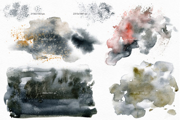 Black Sand. Watercolor Texture Pack. Graphic By dinkoobraz Image 7