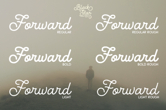 Print on Demand: Black Star Family Script & Handwritten Font By Pasha Larin - Image 4