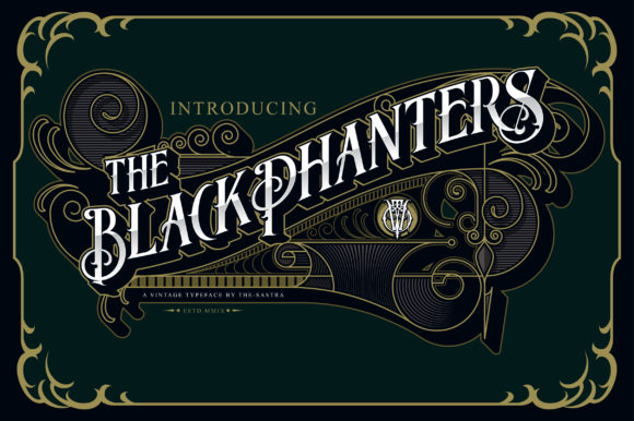 Print on Demand: Blackphanters Display Font By The-sastra