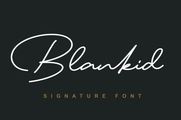 Print on Demand: Blankid Script & Handwritten Font By Lettersiro Co.