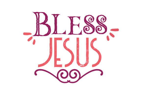 Download Free Bless Jesus Quote Svg Cut Graphic By Thelucky Creative Fabrica SVG Cut Files
