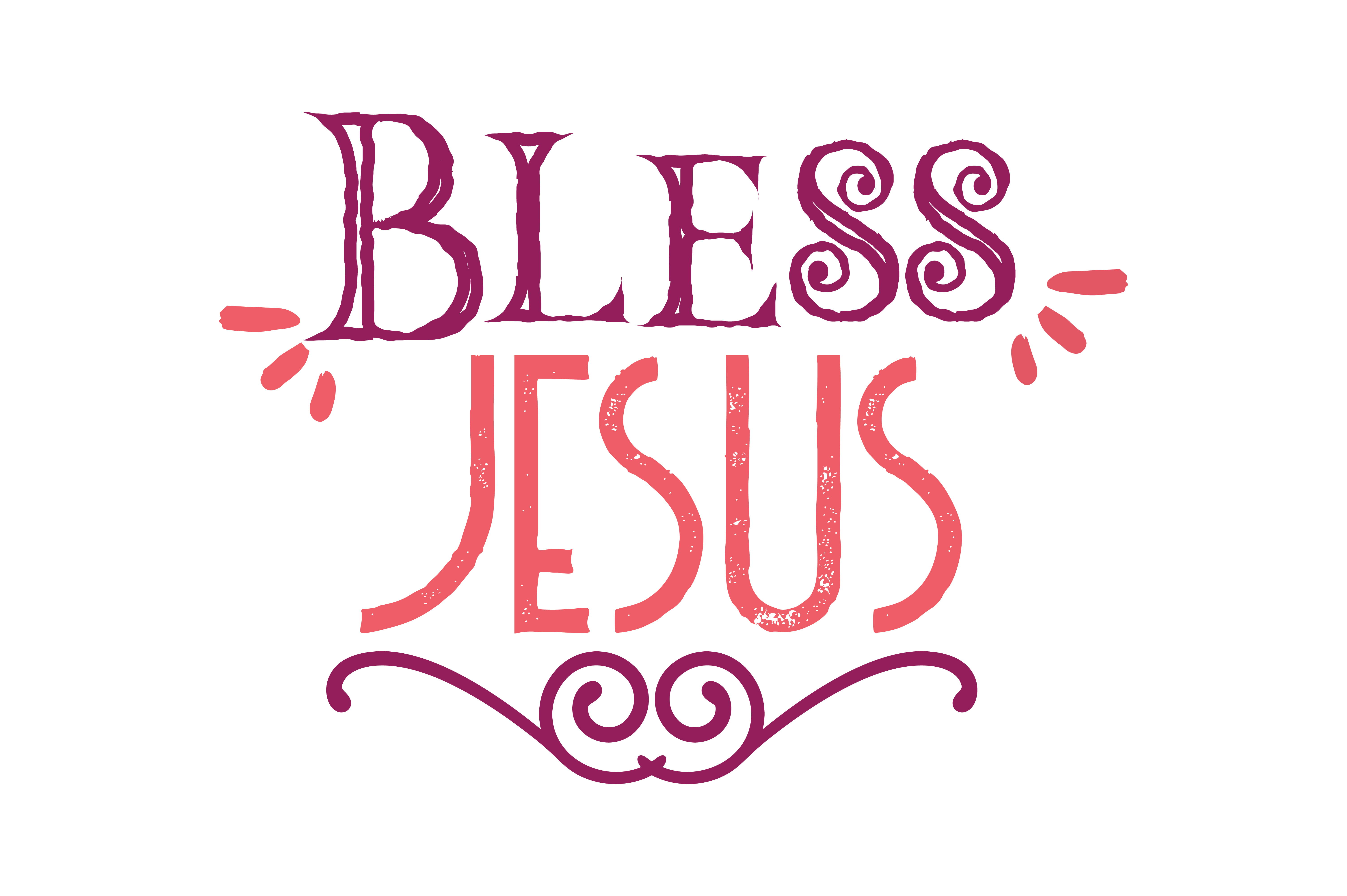 Download Free Bless Jesus Quote Svg Cut Graphic By Thelucky Creative Fabrica for Cricut Explore, Silhouette and other cutting machines.