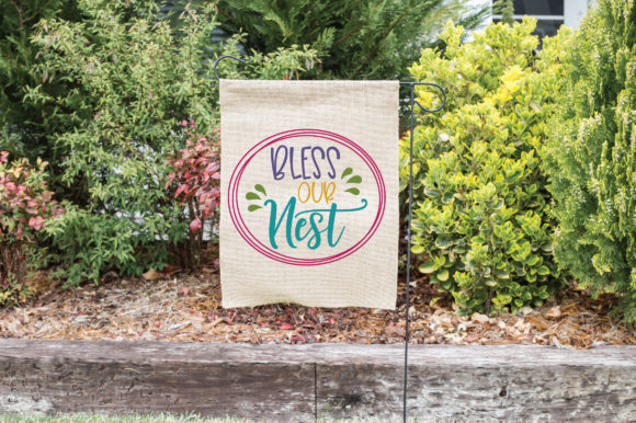 Bless Our Nest SVG Cut File Spring SVG Graphic By oldmarketdesigns Image 2
