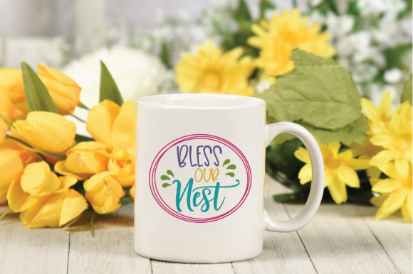 Download Free Bless Our Nest Svg Cut File Spring Svg Graphic By for Cricut Explore, Silhouette and other cutting machines.