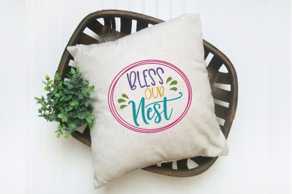 Bless Our Nest SVG Cut File Spring SVG Graphic By oldmarketdesigns Image 6