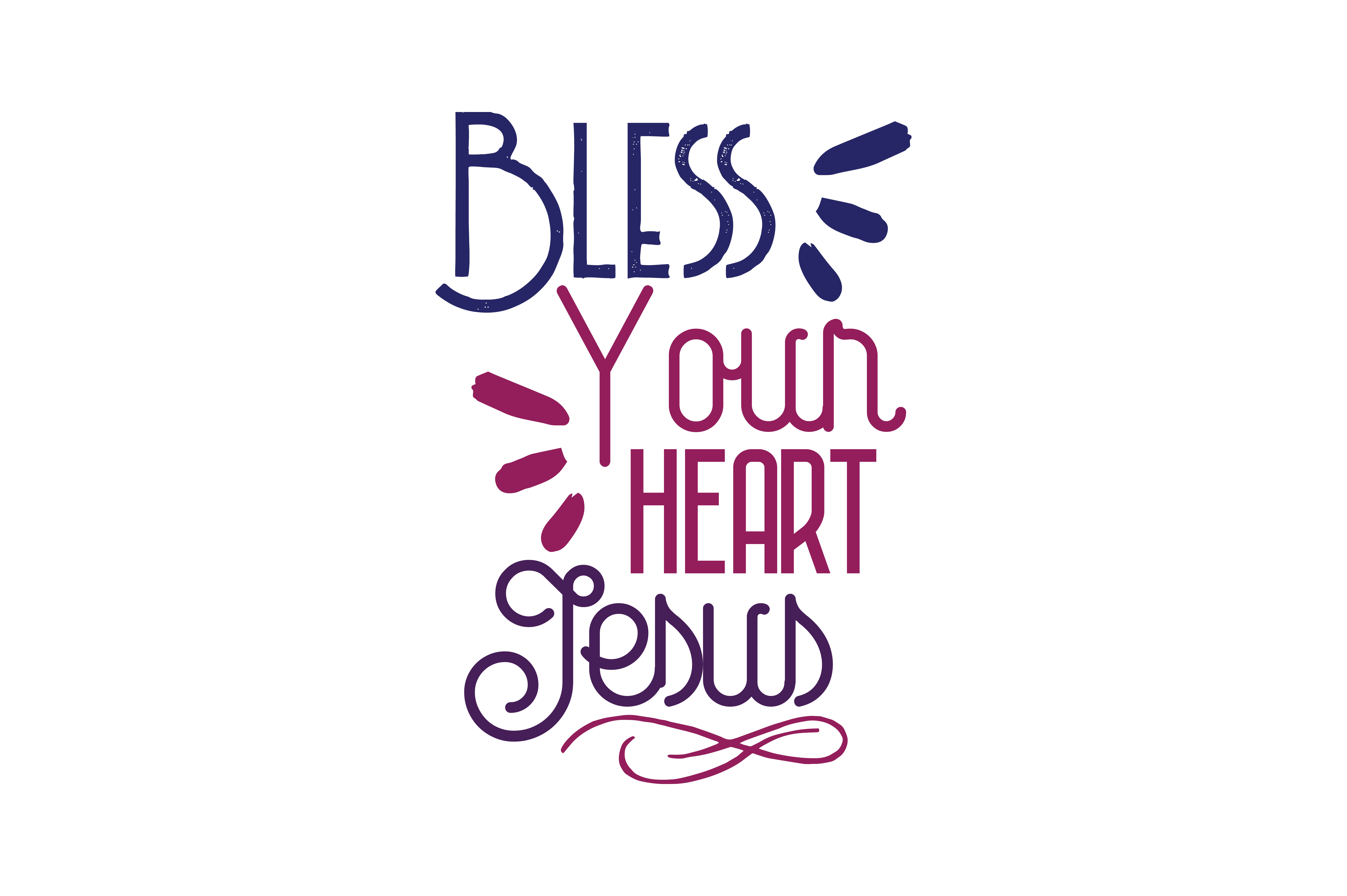 Download Free Bless Your Heart Jesus Quote Svg Cut Graphic By Thelucky for Cricut Explore, Silhouette and other cutting machines.