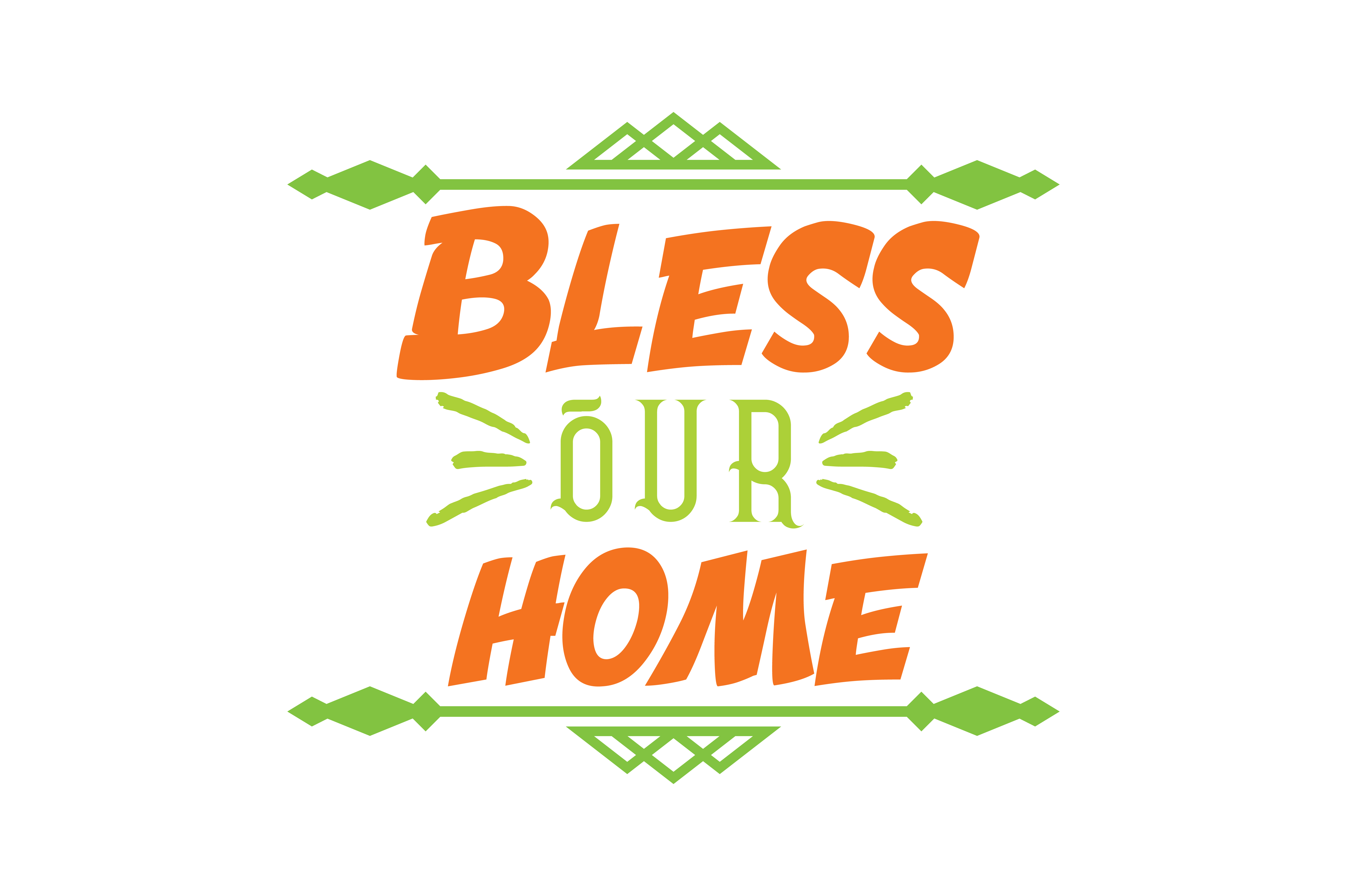 Download Free Bless Our Home Quote Svg Cut Graphic By Thelucky Creative Fabrica for Cricut Explore, Silhouette and other cutting machines.