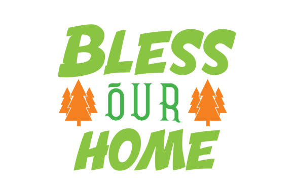 Print on Demand: Bless Our Home Quote SVG Cut Graphic Crafts By TheLucky