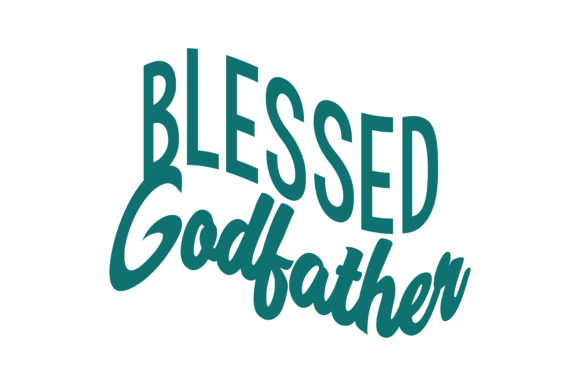 Print on Demand: Blessed Godfather Quote SVG Cut Graphic Crafts By TheLucky