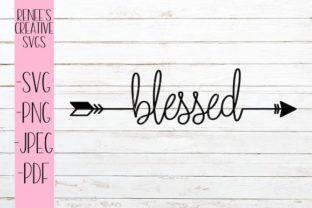 Download Free Blessed Arrow Svg Graphic By Reneescreativesvgs Creative Fabrica for Cricut Explore, Silhouette and other cutting machines.