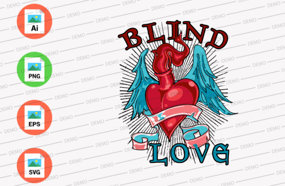 Blind Lover Graphic Illustrations By Skull and Rose