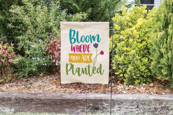 Bloom Where You Are Planted SVG Cut File Graphic By oldmarketdesigns Image 2