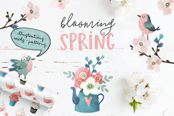 Blooming Spring Graphic Illustrations By Tabita's shop