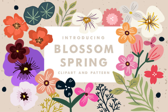 Print on Demand: Blossom Spring Toolkit Graphic Illustrations By Caoca Studios
