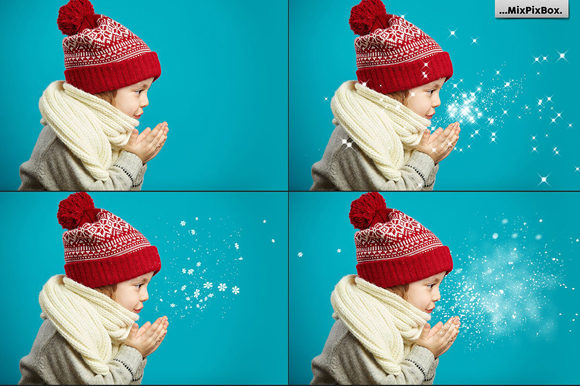 Print on Demand: Blowing Snow Photo Overlays Graphic Layer Styles By MixPixBox - Image 3