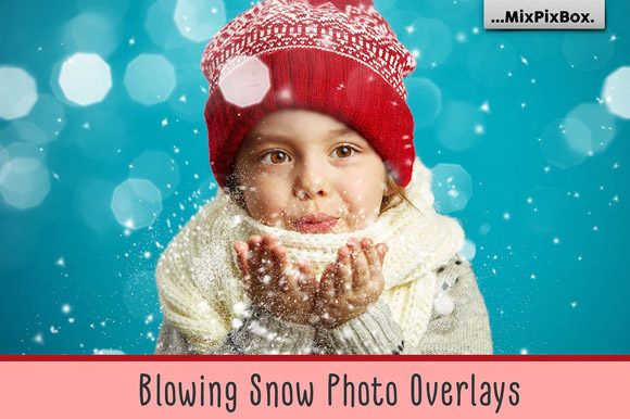 Print on Demand: Blowing Snow Photo Overlays Graphic Layer Styles By MixPixBox