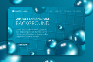 Blue Website Landing Page Background Graphic Landing Page Templates By SugarV_Creative