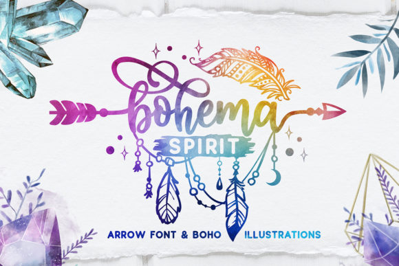 Print on Demand: Bohema Spirit Script & Handwritten Font By BlackCatsMedia