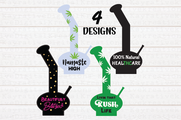 Download Free Bong Bundle Svg Graphic By Kayla Griffin Creative Fabrica for Cricut Explore, Silhouette and other cutting machines.