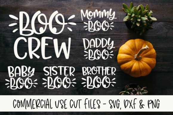 Boo Crew Family SVG Bundle Graphic Crafts By GraceLynnDesigns