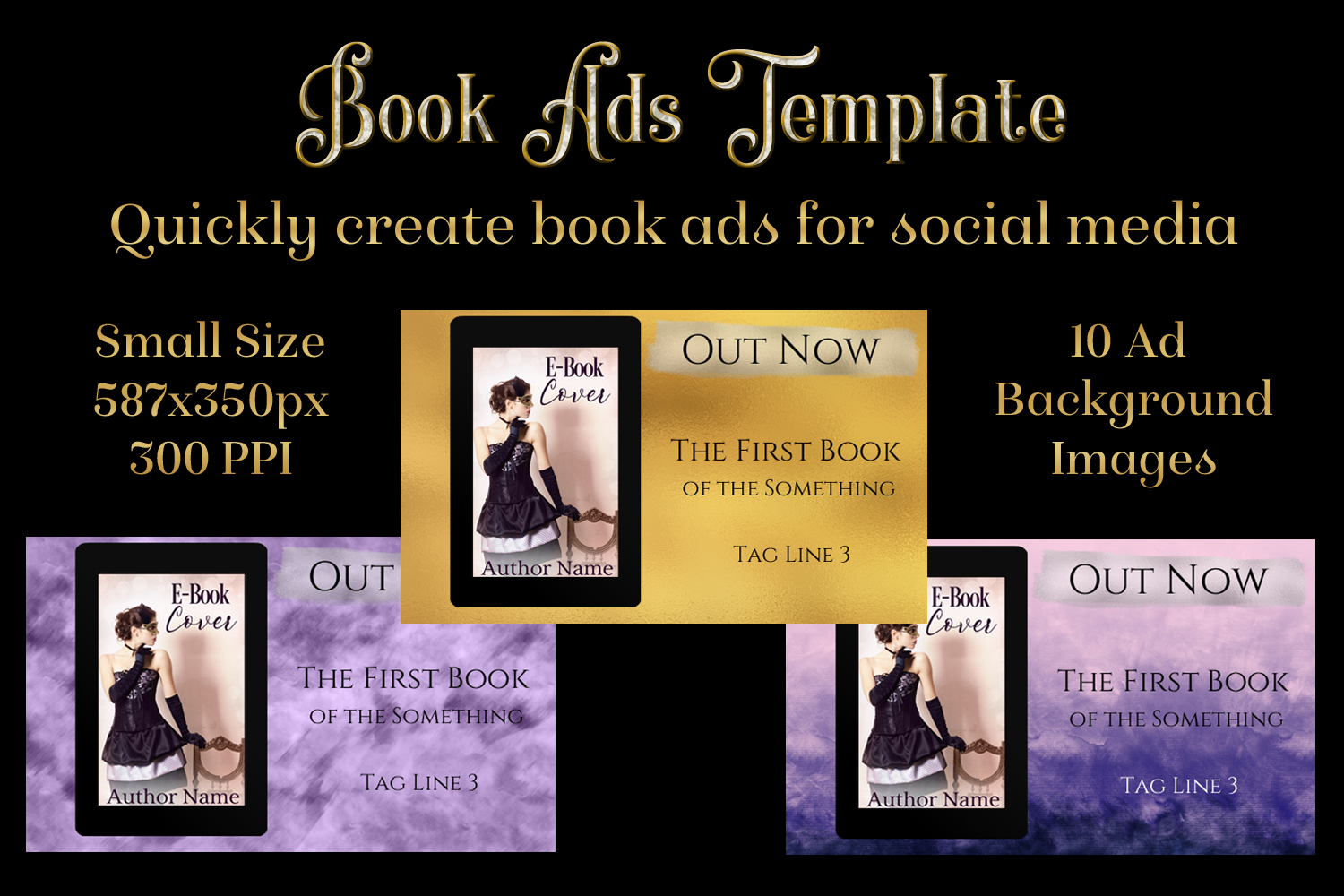 Download Free Book Ads Template Create Book Ads For Social Media Graphic By for Cricut Explore, Silhouette and other cutting machines.