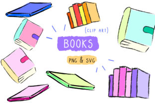 Books Clip Art Graphic By Inkclouddesign