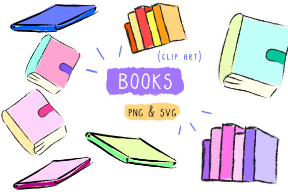 Print on Demand: Books Clip Art Graphic Icons By Inkclouddesign